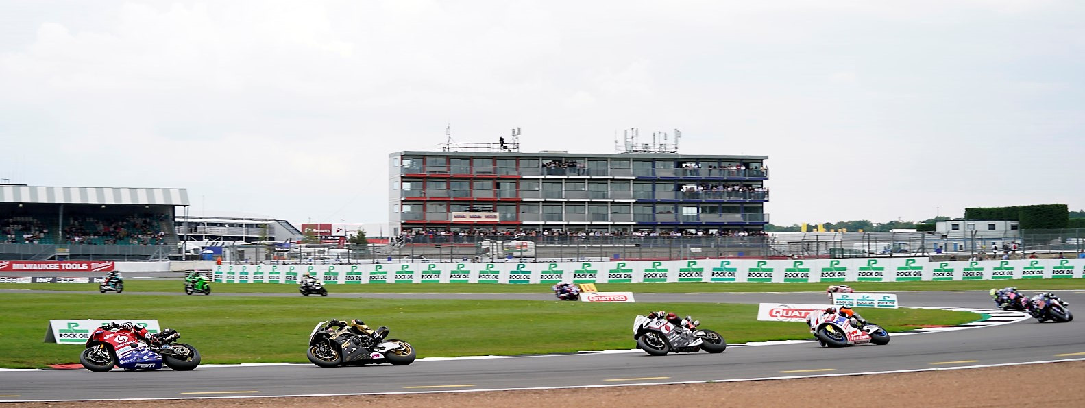 Action from a British Superbike race Sunday at Silverstone. Photo courtesy MotorSport Vision Racing.