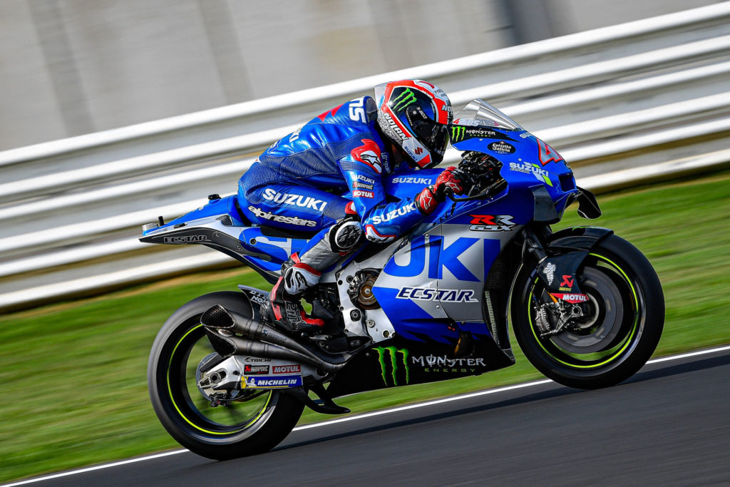 Alex Rins (42) with a new chassis. Photo courtesy Dorna.