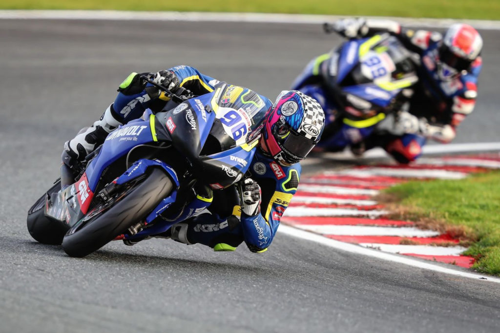American Brandon Paasch (96) and his stand-in teammate Danny Webb (99). Photo courtesy Dynavolt Triumph.