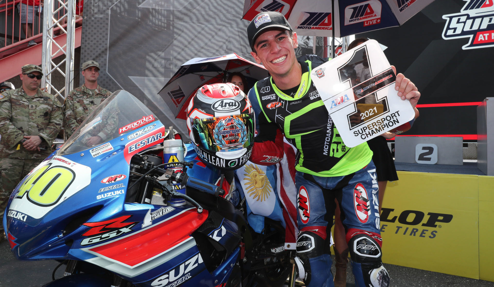 Sean Dylan Kelly, the 2021 MotoAmerica Supersport Champion, will be racing in the Moto2 World Championship through 2023. Photo by Brian J. Nelson.