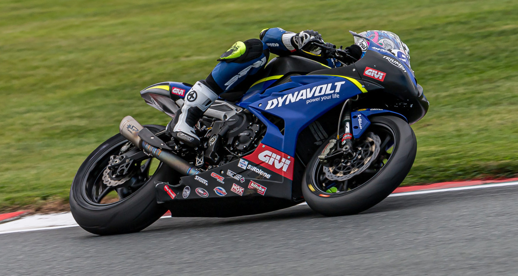 Brandon Paasch (96) in action at Oulton Park. Photo by Barry Clay.