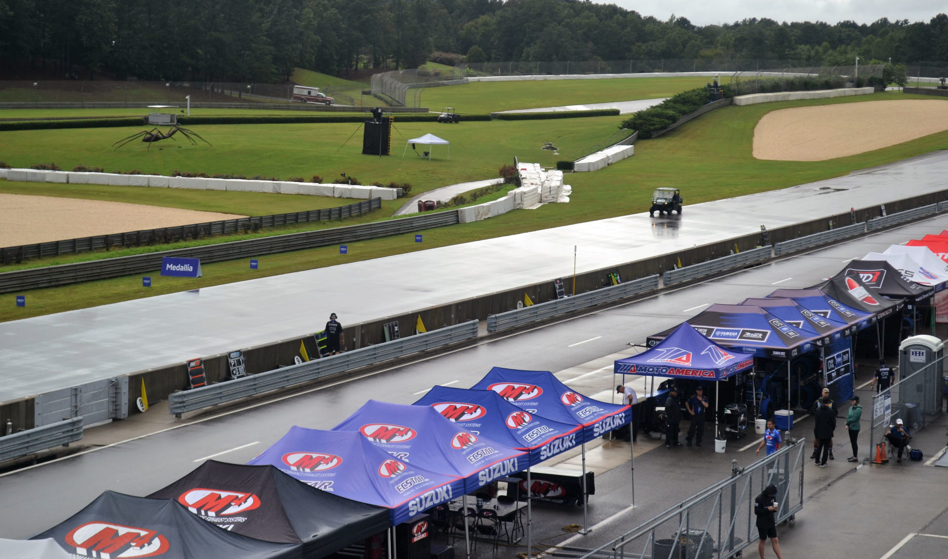 Barber Motorsports Park, as seen at 11:20 a.m. local time on Saturday. Photo by David Swarts.