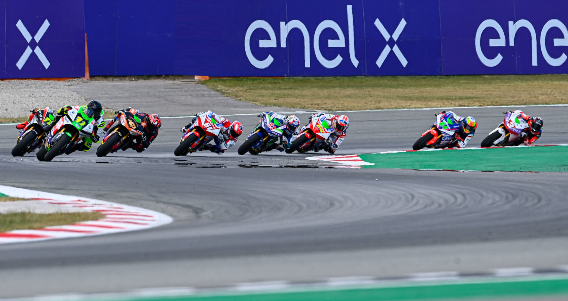 Enel is continuing as the title sponsor of the FIM MotoE World Cup. Photo courtesy Dorna.