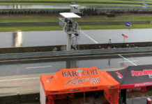 The view from the control tower at rainy Barber Motorsports Park at approximately 9:45 a.m. Central Time Saturday. Photo by David Swarts.