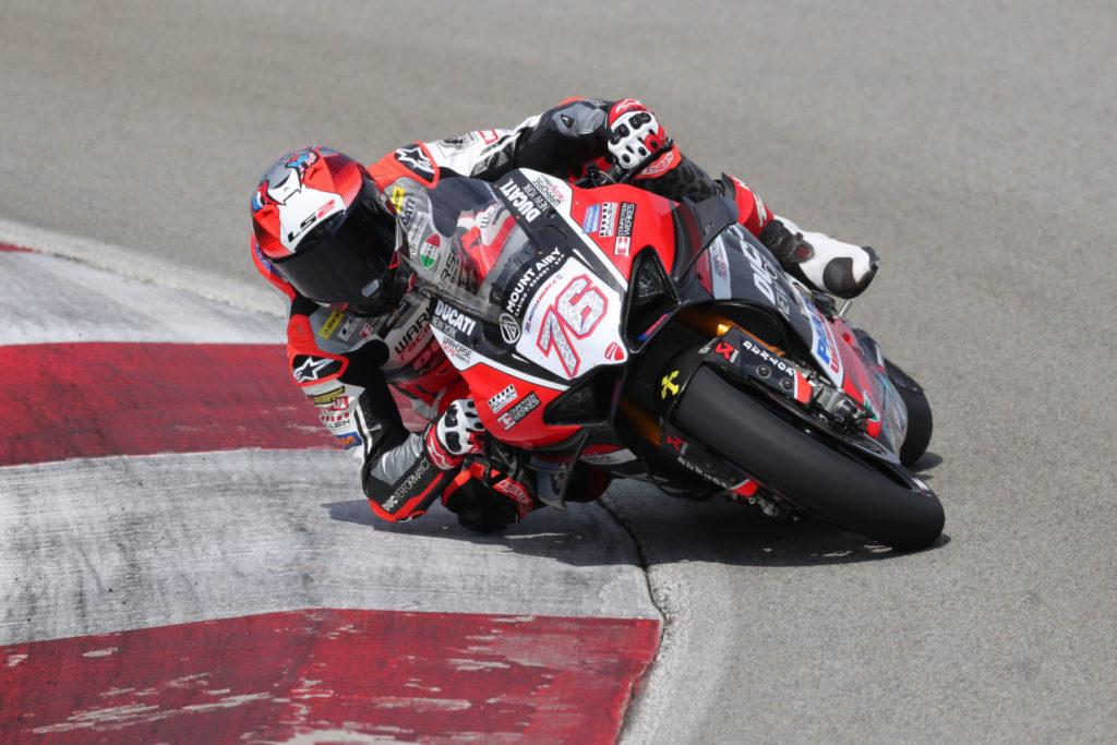 Loris Baz (76). Photo courtesy Ducati North America.