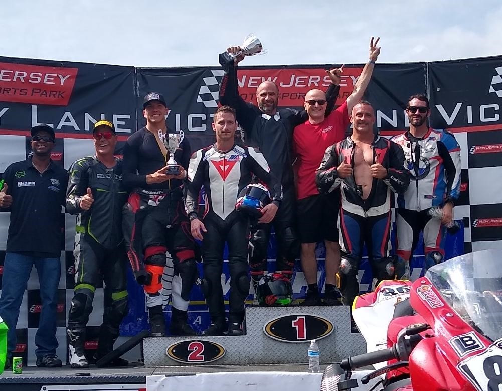 The ASRA Team Challenge overall podium finishers at New Jersey Motorsports Park. Photo courtesy ASRA/CCS.