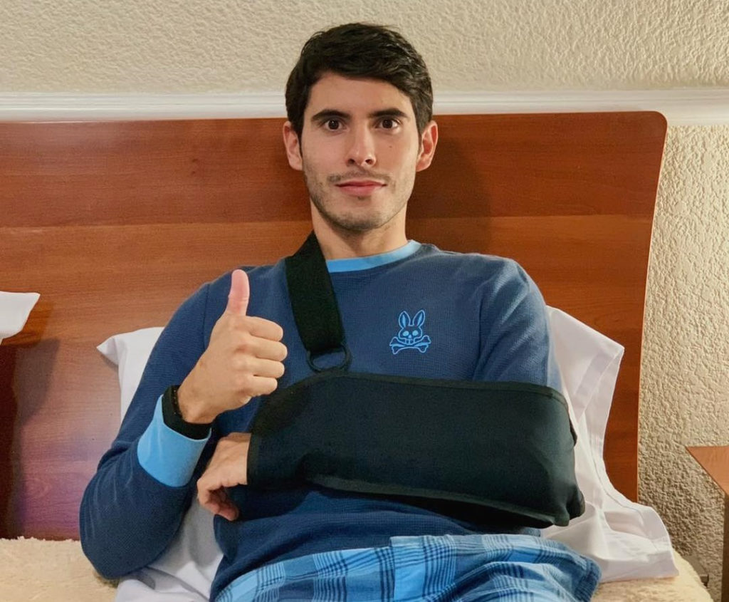 Richie Escalante recovering at home in Mexico. Photo courtesy Richie Escalante.