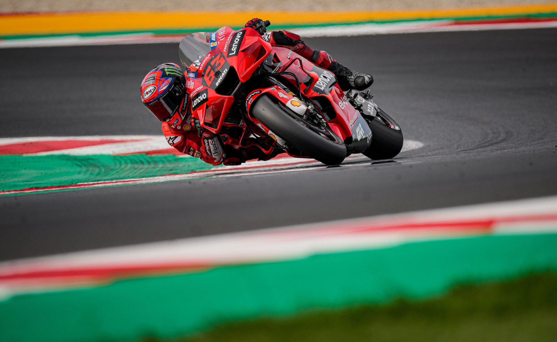 The lap time Francesco Bagnaia (63) turned on Day One ended up being fastest overall during the two day MotoGP test at Misano. Photo courtesy Ducati.