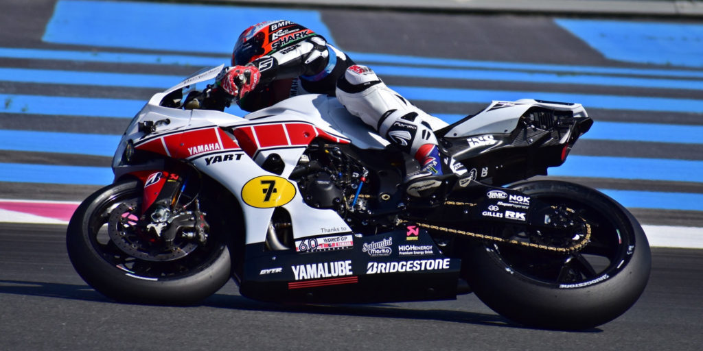 YART, Yamaha's factory team in the EWC, ran with the company's special livery celebrating 60 years in Grand Prix racing. Photo by Michael Gougis.