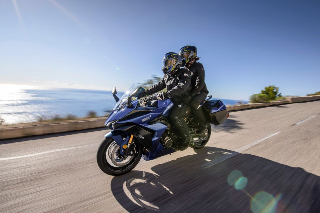 The 2022 Suzuki GSX-S1000GT has new seats for rider and passenger. Photo courtesy Suzuki Motor USA, LLC.