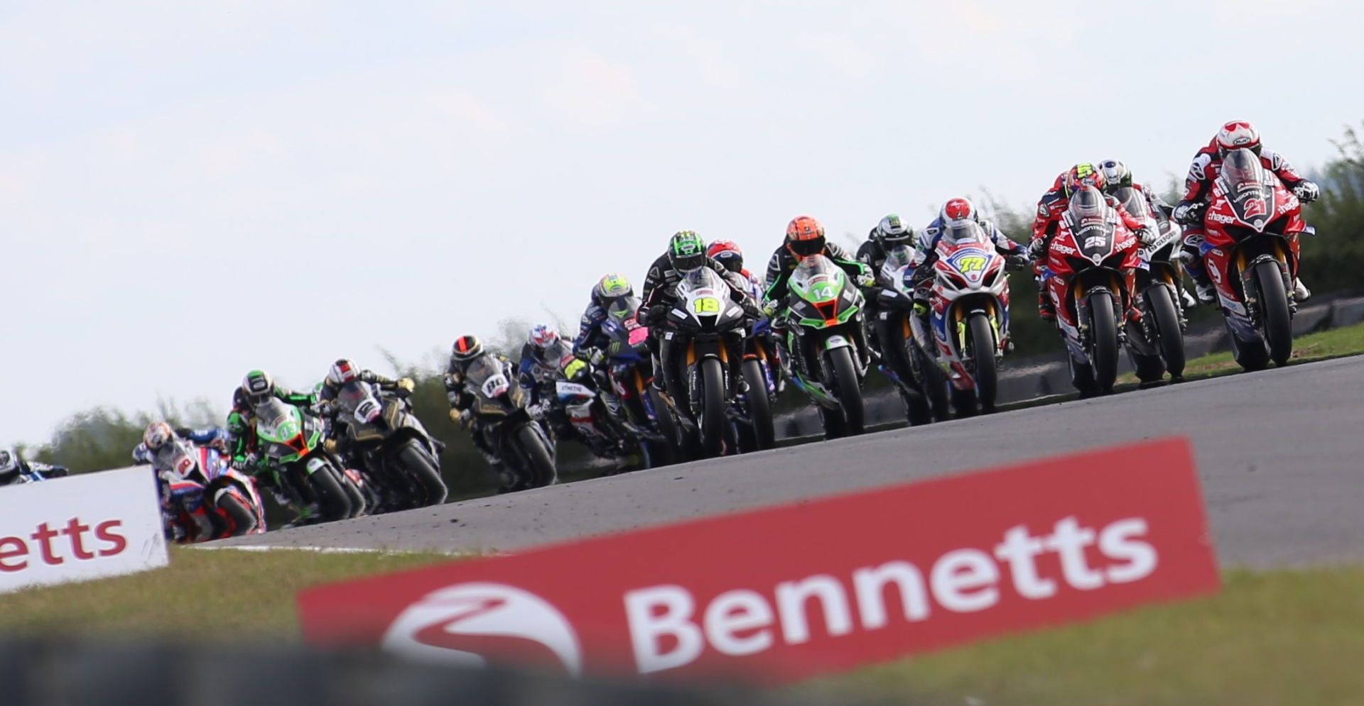 The British Superbike Championship is racing at Snetterton this coming weekend, Sept. 3-5. Photo courtesy MSVR.