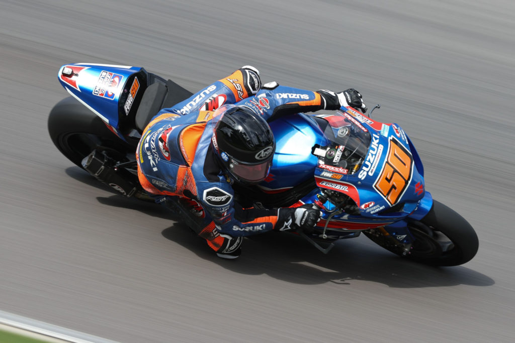 Bobby Fong (50) finished his 2021 season strong with top ten finishes in all three races in Alabama. Photo by Brian J. Nelson, courtesy Suzuki Motor USA, LLC.