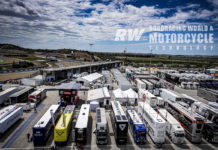 The modern day MotoGP paddock—a world apart from the Ginger Molloy Grand Prix racing experience of past times.