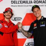 2021 MotoGP World Championship hopefuls Francesco Bagnaia (left) and Fabio Quartararo (right). Photo courtesy Dorna.