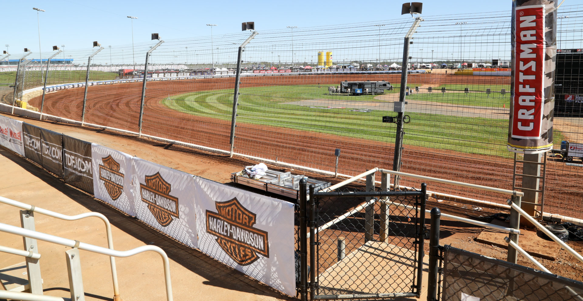 The dirt track at Charlotte Motor Speedway, in Concord, North Carolina. Photo courtesy AFT.