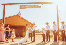 Hawk Mazzotta and Nina Akana were married at their residence, Wildheart Ranch, in Cottonwood, California. Photo courtesy Hawk Mazzotta.