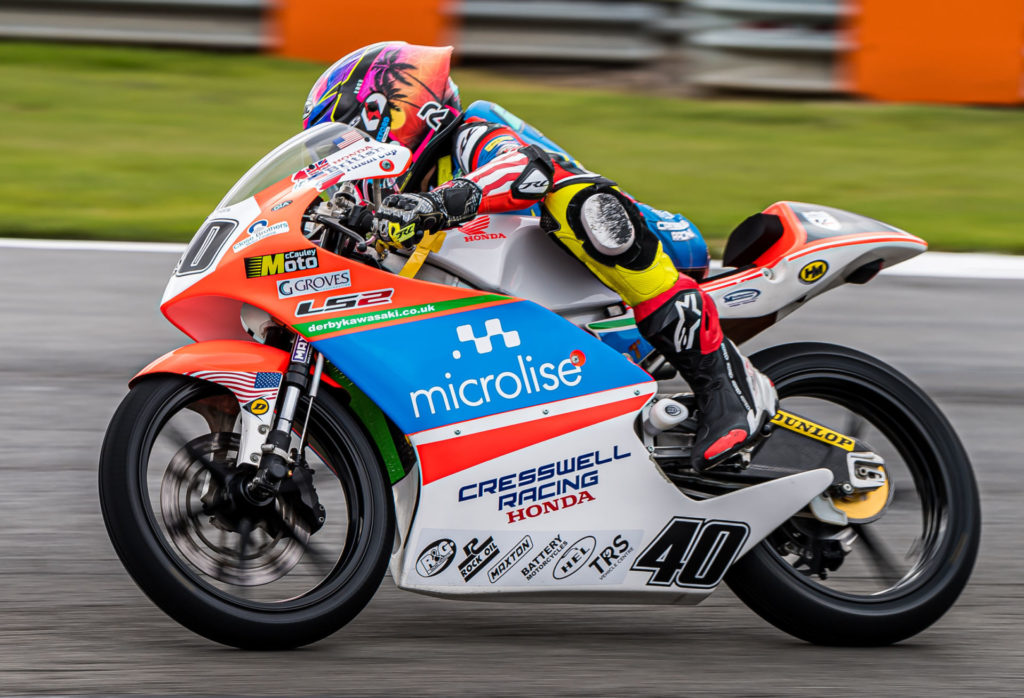 Julien Correa (40) in action at Donington Park. Photo by Barry Clay.