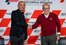 Ducati CEO Claudio Domenicali (left) and Dorna Sports CEO Carmelo Ezpeleta (right). Photo courtesy Dorna.