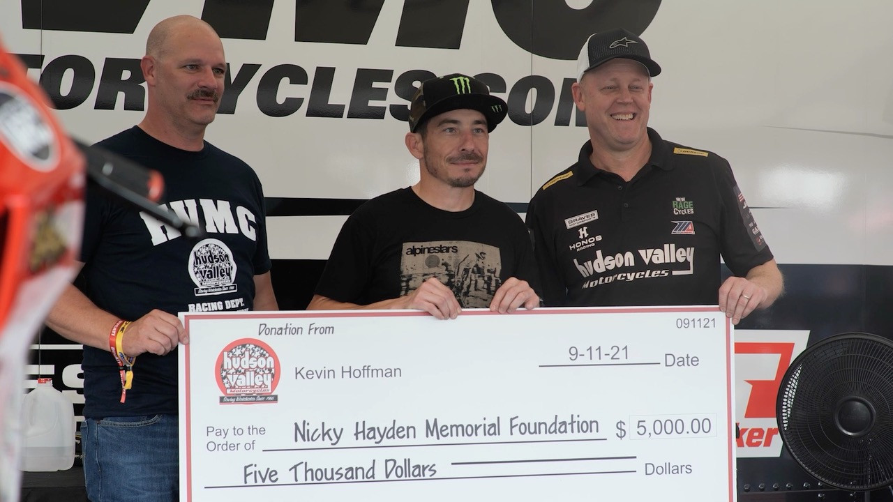 Kevin Hoffman (left), Roger Hayden (center), and Richie Alexander, Jr. (right). Photo courtesy Hudson Valley Motorcycles.