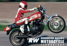 Wes Cooley wheelieing his Yoshimura Suzuki Superbike during a photo shoot at Orange County Raceway in 1979. Photo by John Ulrich, Copyright 2009.