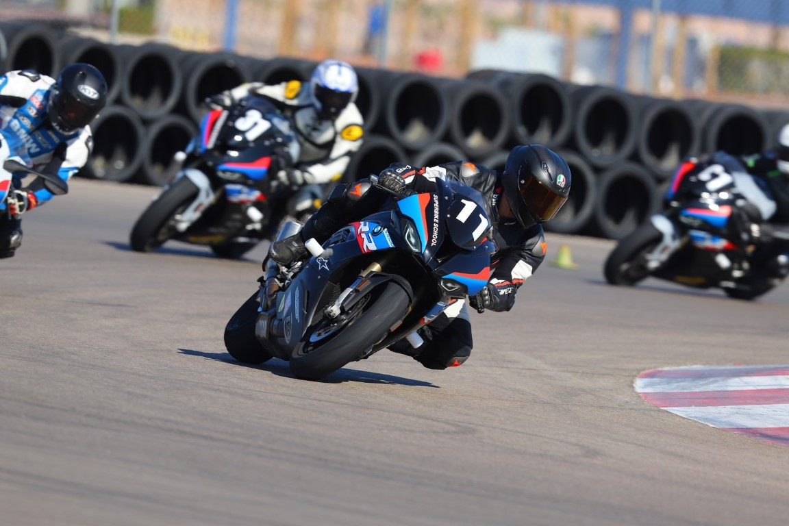 California Superbike School students in action. Photo courtesy California Superbike School.