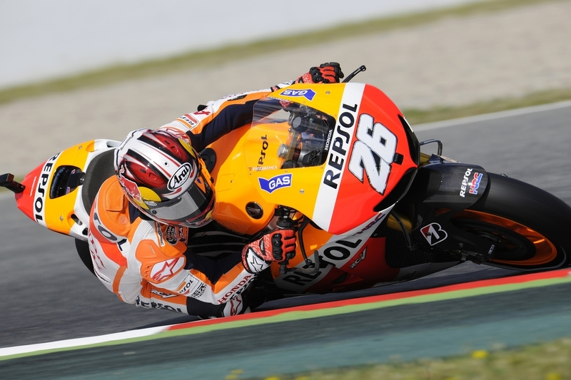 Pedrosa Takes Motogp Pole Position With New Lap Record At Catalunya Roadracing World Magazine Motorcycle Riding Racing Tech News